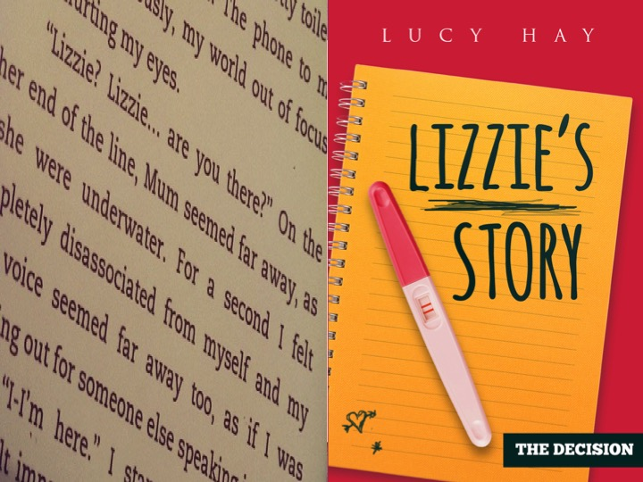 Lizzie, plus a page from the book